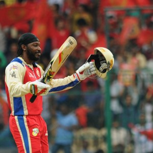 Chris Gayle Celebreting the IPL record of 175