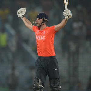 Alex Hales (England) Celebrating His First Twenty20 century in 22nd Match Of World T20