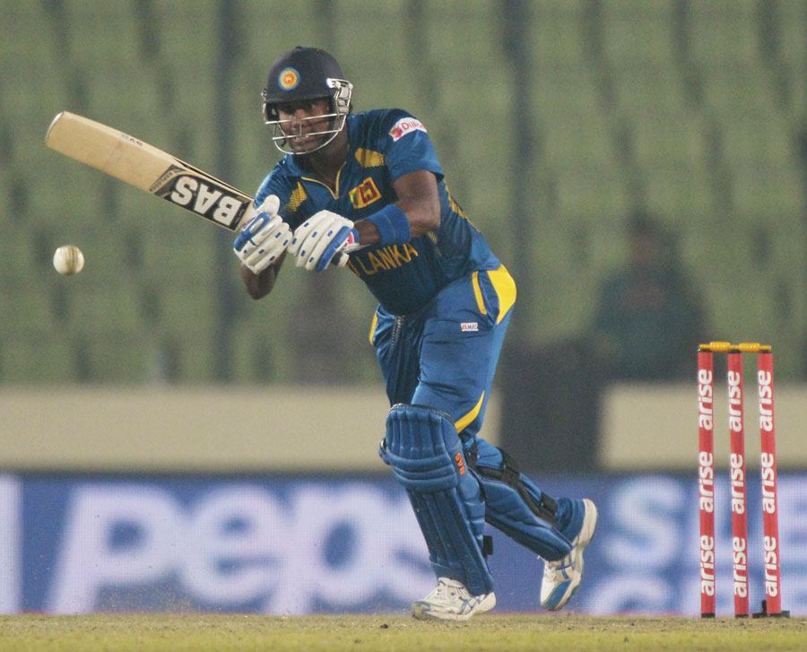 Angelo Mathews - Player Of The Day On 10th Match Of Asia Cup ODI Cricket 2014  on 6th March 2014