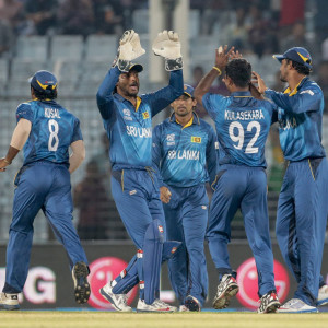 Sri Lanka Team Celebrating - World T20 2014