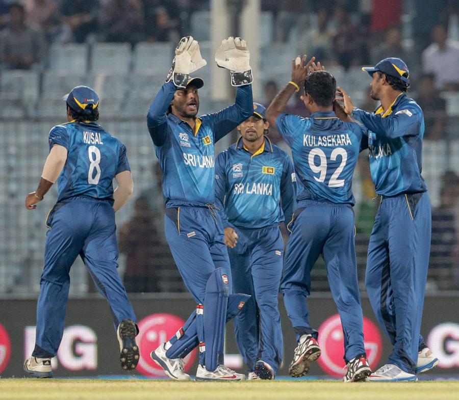 Sri Lanka Team Celebrating - World T20 2014