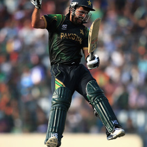 Ahmed Shehzad (PAK) - Player Of The Match : celebrating His First T20 Century